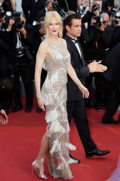 Actors Colin Farrell Nicole Kidman in Michael Kors Pre-Fall 2017 attend the 'The Beguiled' screening during the 70th annual Cannes Film Festival at Palais des Festivals on May 24 2017