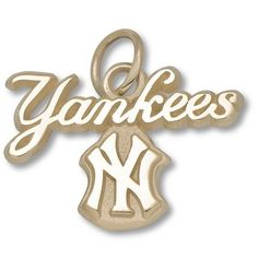 "14K NEW YORK YANKEES ""YANKEES NY"" SCRIPT CHARM by Logo Art. $191.67. Enjoy this official MLB licensed New York Yankees charm. A great gift for any New York Yankees fan!¶Express your team pride with jewelry items from LogoArt®.¶¶Charm¶14KT gold¶Express your team pride with jewelry from LogoArt®. LogoArt® charms are available in 14KT and 10KT gold, sterling silver and gold plated sterling silver. The precise detail of your favorite team's logo is captured in ex..."