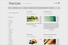 Pureline theme for your blog