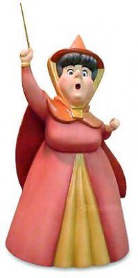 """Flora knows what color Sleeping Beauty's dress should be! """"A LITTLE BIT OF PINK"""" - FLORA FIGURINE #Disney #WDCC"""