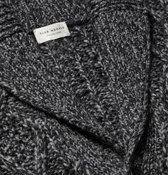 <a href='http://www.mrporter.com/mens/Designers/Club_Monaco'>Club Monaco</a>'s cable-knit cardigan will slot seamlessly into your cold-weather rotation. Crafted from insulating yarns spliced with soft wool and alpaca, it has a handsome mix of anthracite and black hues for an altogether smart look. Team yours with jeans or neat trousers.