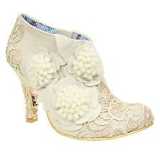 New Irregular Choice famous cheeky Moose off White lace wedding bridal shoes