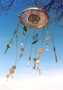 keys and embroidery hoop