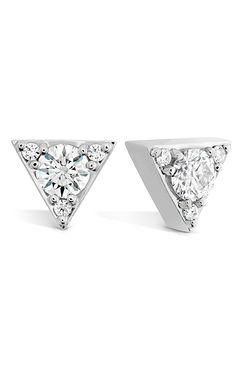 Hearts On Fire Triplicity Triangle Diamond Earrings #IgniteSomething