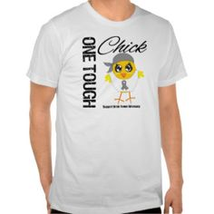 One Tough Chick Brain Tumor Warrior Tshirt