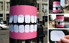 Curiosa campaña de #publicidadcreativa para una clínica dental. ¡Buenas noches!
