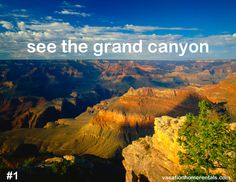 see the grand canyon, #1 on the travel bucket list