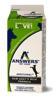 Answers Pet Food Additional Formula Raw Goat S Milk Formula Food Animals Fermentation Products Goat Milk
