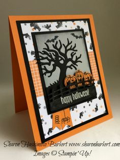 Spooky Fun stamp  set, Halloween Scenes Edgelits, www.sharonburkert.com…
