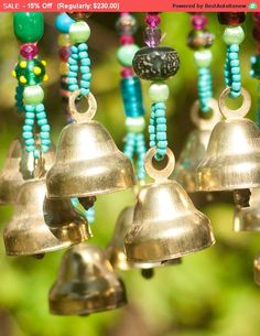 Bell wind chimes by RONITPETERART on Etsy