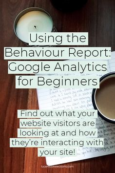 Find out what your audience is doing once they get to your website 👀 Business Entrepreneur, Business Tips, Behavior Report, Good Time Management, Google Analytics, Wordpress Plugins, The Help, Digital Marketing, How To Find Out
