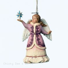 Jim Shore Heartwood Creek Victorian Angel Ornament 4047684 NIB 2015