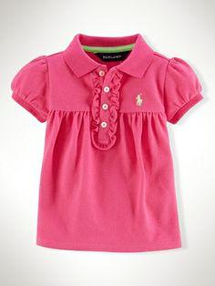 Cotton Polo Shirt - Infant Girls Polo Shirts - RalphLauren.com