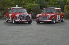 Morris mini cooper rally cars. v@e.