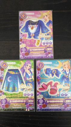 "Trading card of Japanesel Idol Animation ""AIKATSU"" Moon holic coord 78"