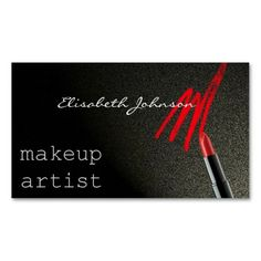 Shop Makeup Artist Business Card created by SanjaDesign. Beauty Business Cards, Makeup Artist Business Cards, Salon Business, Bobby Pins, Hair Accessories, Things To Come, Prints, Color, Colour