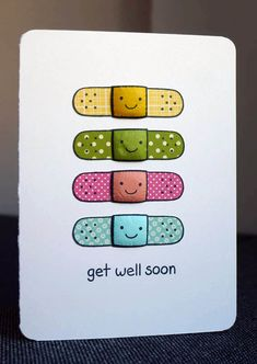 handmade card ... adorable paper pieced bandaids ... get well card ... luv it!