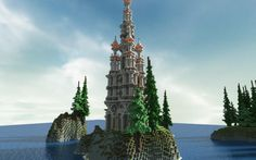Minecraft Tower at Bal Moreth Taken from the Minecraft Gallery.