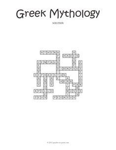No Prep Ancient Greek Mythology Crossword Puzzle Early Finishers, Crossword, Greek Mythology, Ancient Greek, Puzzles, Worksheets, Crossword Puzzles, Puzzle, Literacy Centers