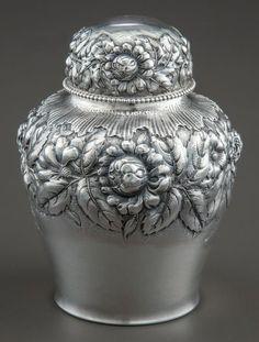 A Gorham Silver Lidded Jar  Gorham Manufacturing