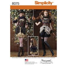 Simplicity Pattern 8075 Misses' Steampunk Costumes