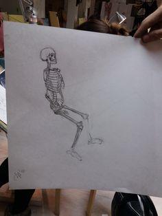 Рисуем скелетики #art #darkair