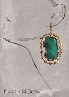 A series of illustrations for an article in a glossy magazine about jewelry maker Kimberly McDonald.