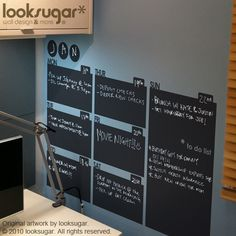 Planner Office wall stickers Chalkboard decal by looksugar on Etsy, $58.00