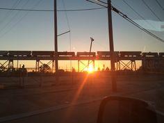Train Tressel sunset by Melanie Starr