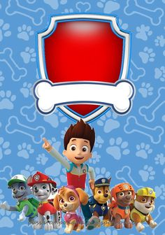 Paw Patrol in Red and Blue: Free Printable Party Kit. - Oh My Fiesta! Los Paw Patrol, Paw Patrol Cake, Paw Patrol Pinata, Party Kit, 3rd Birthday Parties, Boy Birthday, Imprimibles Paw Patrol, Paw Patrol Birthday Invitations, Cumple Paw Patrol
