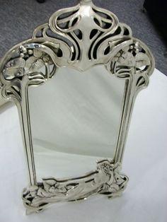 38 Ideas For Art Nouveau Mirror Bathroom Belle Epoque, Jugendstil Design, Art Nouveau Furniture, Beautiful Mirrors, Unique Mirrors, Vintage Mirrors, Art Nouveau Design, Art Nouveau Jewelry, Bronze