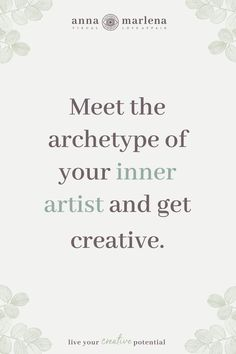 Meet your inner artist I Creative Flow by Anna Marlena Authentic Self, Creative Activities, Archetypes, Live For Yourself, Meet You, Flow, How To Become, Anna, How Are You Feeling