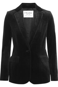 Black velvet Button fastening at front 80% cotton, 18% Lyocell, 2% spandex; lining: 100% polyester Dry clean Imported