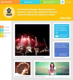 Redesign of Festival Sherpa -  The guide to help you discover, share and celebrate festivals.  www.festivalsherpa.com