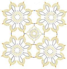 """Photo from album """"mar 1 15 on Filet Crochet, Mandala Au Crochet, Beau Crochet, Crochet Motifs, Crochet Diagram, Crochet Squares, Crochet Granny, Crochet Doilies, Crochet Flowers"""