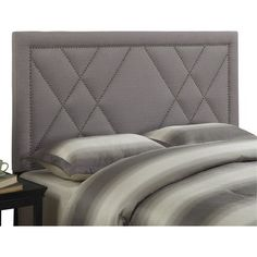 Found it at Wayfair - Queen Upholstered Headboard Bed Headboard Design, White Headboard, White Duvet, Bedroom Bed Design, Queen Headboard, Headboards For Beds, Headboard Ideas, Bedroom Ideas, Master Bedroom