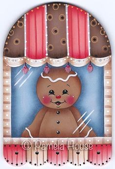 The Decorative Painting Store: Window Peeper Ginger Pattern, Gingerbread