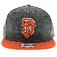 finest selection 06e19 dc203 San Francisco Giants The Tweed Strapback ( Charcoal  amp  Orange ) By .