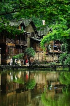 Collection of .. Exotic Places Around the World - Shang-Li, Sichuan, China