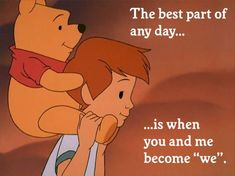 27 Ideas Tattoo Disney Winnie The Pooh Christopher Robin Winnie The Pooh Quotes, Disney Winnie The Pooh, Disney Love, Disney Quotes About Love, Tao Of Pooh, New Quotes, Life Quotes, Inspirational Quotes, Friend Quotes