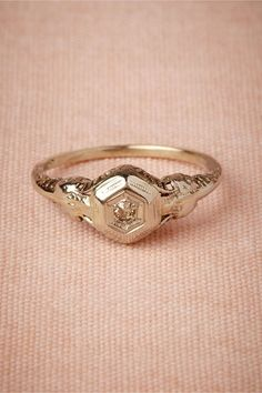 The intricate filagree makes this ring one of a kind.
