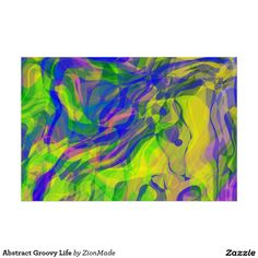 Abstract Groovy Life Poster | #zionmade