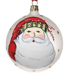 Vietri Christmas Ornametn OSN-2701-D Old St. Nick Santa Ornament