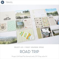 Love the idea of using cards as a photo prop Make Ideas Happen: Project Life: Road Trip Project Life Travel, Prop Making, Diy Shops, Us Road Trip, Pocket Scrapbooking, Life Inspiration, Photo Props, Becky Higgins, Baler