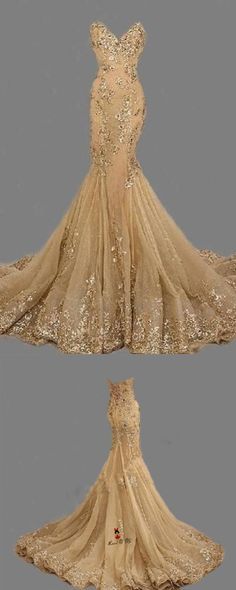 Fashion Sexy Gold Sweetheart Long Prom Dress,Handmade Gold Formal Women Evening Dress,Formal Dress Gold,Gold Prom Dress, Women Dresses