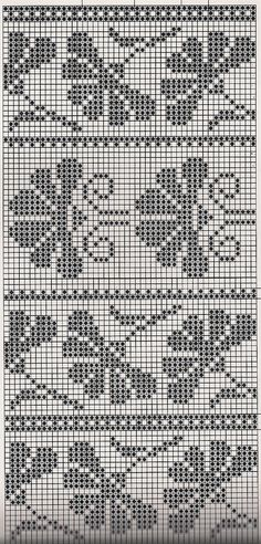 This Pin was discovered by zey Filet Crochet, Crochet Cross, Crochet Chart, Crochet Patterns, Crochet Granny, Knitting Patterns, Punto Fair Isle, Motif Fair Isle, Fair Isle Chart