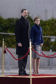 King Felipe of Spain (L) and Queen Letizia of Spain (R) depart for an official visit to France at Barajas Airport on March 24, 2015 in Madrid, Spain.