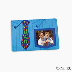 Dad's Shirt & Tie Photo Frame Magnet Craft Kit (Oriental Trading)