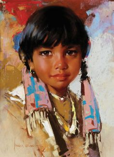 Indian Girl was sold by Jackson Hole Art Auction, Jackson (WY), on Friday, September Past & Present Masters of the American West Native American Children, Native American Wisdom, Native American Pictures, Native American Regalia, Native American Beauty, American Indian Art, Dream Catcher Native American, Brown Art, Harley