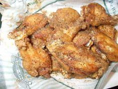 LEMON PEPPER WINGS  Wingstop Restaurant Copycat Recipe   Serves 4-6   3 lbs chicken wings, cut into winglets  1/2 cup butter  1 -2 table...